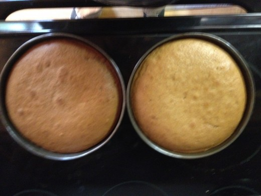 The baked layers but the color of each layer was almost the same.
