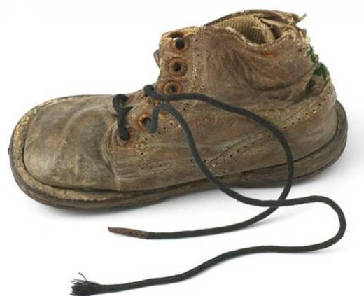 Whose shoes are these? What can you tell about the former wearer? Walk in this person's shoes?