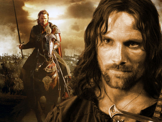 VIggo Mortensen as Aragorn in the Lord of the Rings Triligy