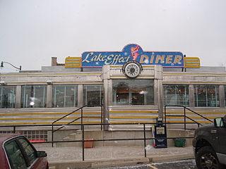 A popular diner on Main Street in Buffalo, NY