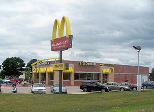 A new McDonald's in Mount Pleasant, Iowa.