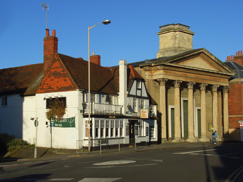 The Sun Inn and St Mary's Chapel, Reading