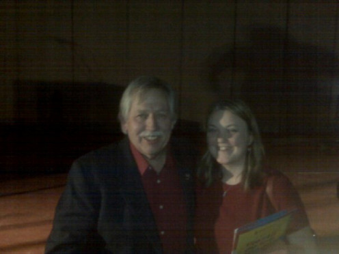 Me with John Conlee. His hit song 'Rose Colored Glasses' was featured on the pilot of ABC's Nashville.