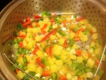 Diced Potatoes with Veggies
