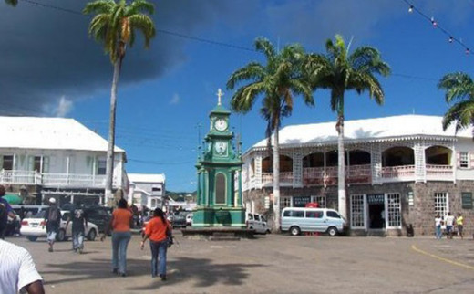 The Circus intersection in the City of Basseterre