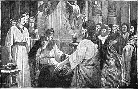 Daniel interpreting Nebuchanezer's dream