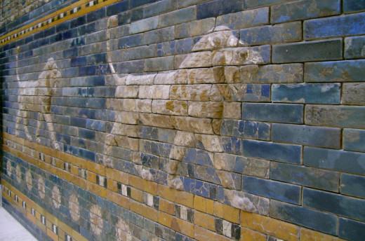 Ishtar gate built during the reign of Nebuchadnezer