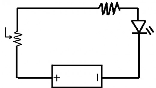 Led Hooked to a Battery Circuit