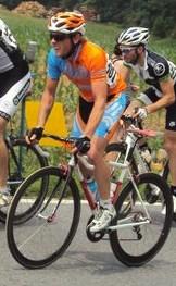 Team Fluid East rider Joseph Chudyk uses his aerobic capacity in this photo.