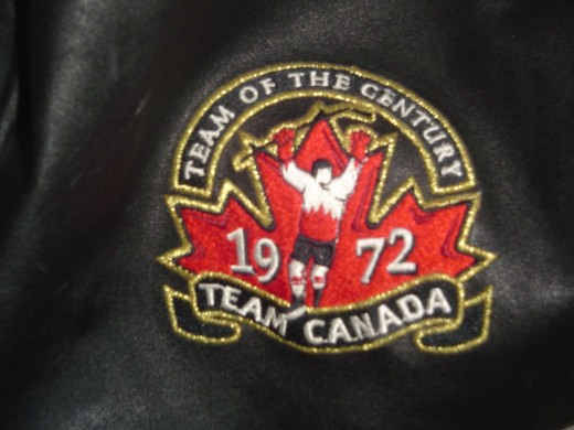 This is from a duffle bag I own, commemorating the 1972 Canadian hockey team which won the 1972 summit series versus the Soviet Union.