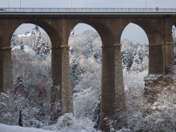Viaduct Bridge in winter, Luxembourg City