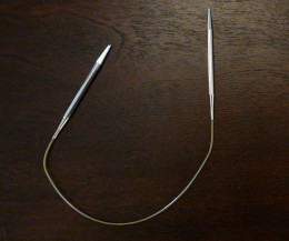 "A set of 12"" circular knitting needles"