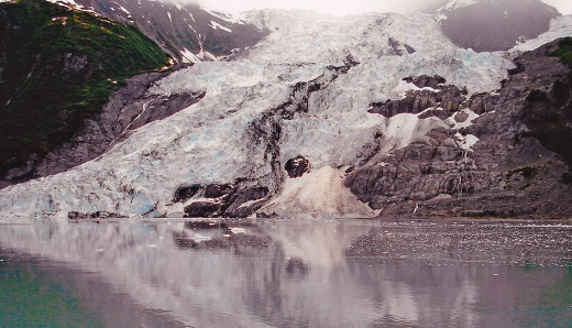 Glacier in the Act of Calving, Just Before the Splash