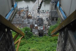 The cable car from Dinant's Citadel.