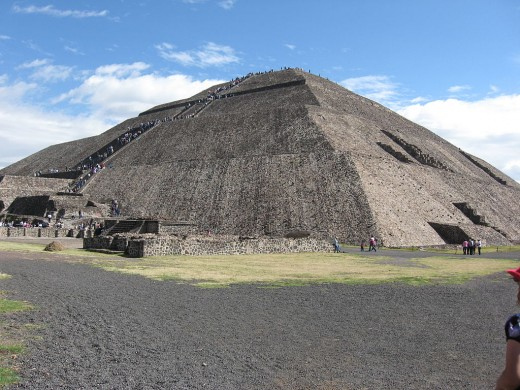 Teotihuacan, Piramide del Sol (Pyramid of the Sun), Mexico's Heritage