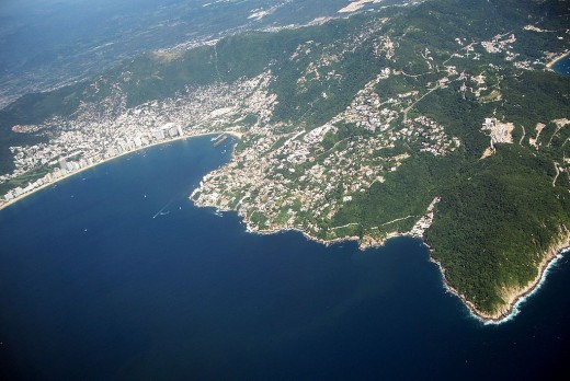The famous Acapulco beaches, an international resort