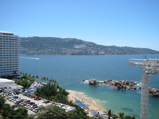 A magnificent view of some of the Acapulco scenery