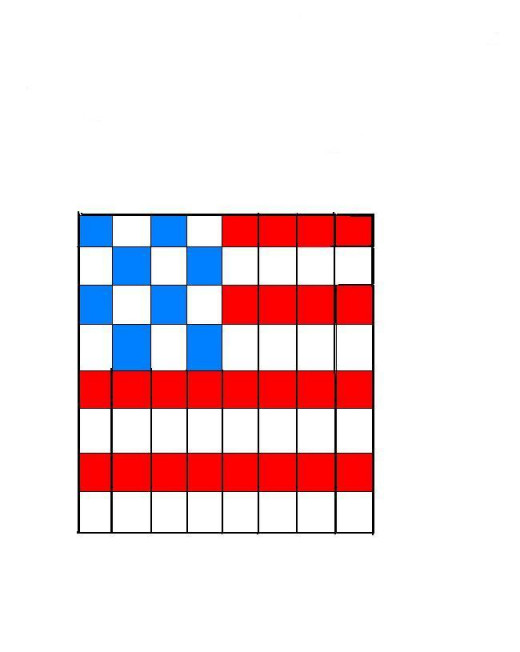 Seed Bead  Flag Pattern