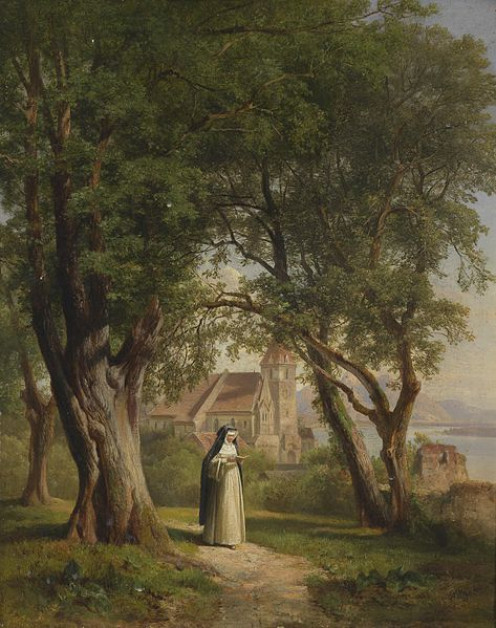 Painting by Anton Hansch (1813-1876)