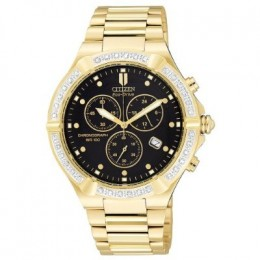 Men's | Chronograph | Diamonds | Gold Tone
