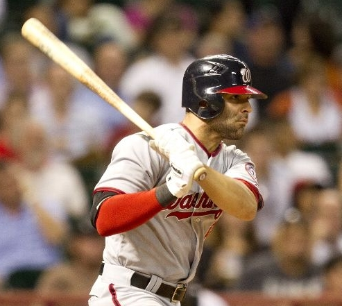 Danny Espinosa cracks a single.