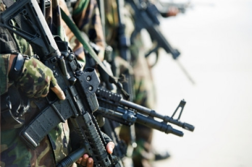 Armed soldiers