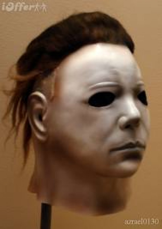 Michael Myers mask from the Halloween horror movie franchise. Myers wore plenty of masks but this one was his favorite.