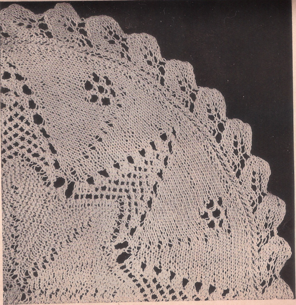 Knitting Pattern Numbers In Brackets : Knitted Pineapple Doily