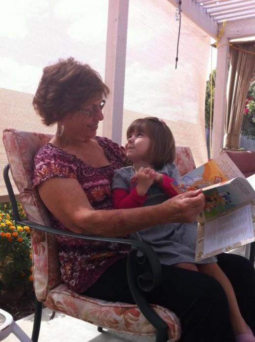 Grandma and great granddaughter Ava