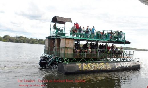 Eco-Tourism - Tourist on the Zambezi River, Zambia