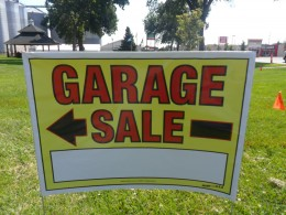 my garage sale sign