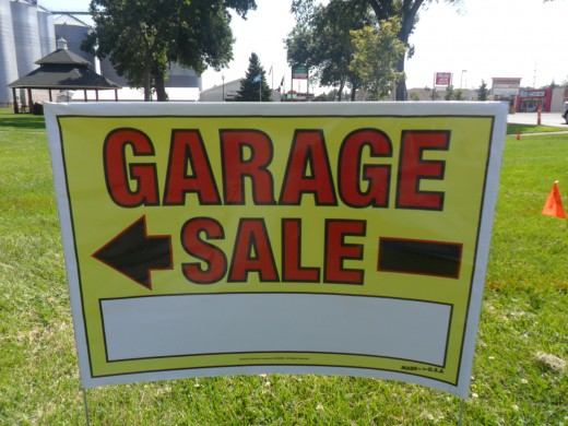 my garage sale sign