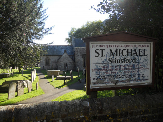 St Michael's church in Stinsford, which Hardy attended as a boy with his family. This church was the inspiration for Mellstock Church, in his novel The Woodlanders.