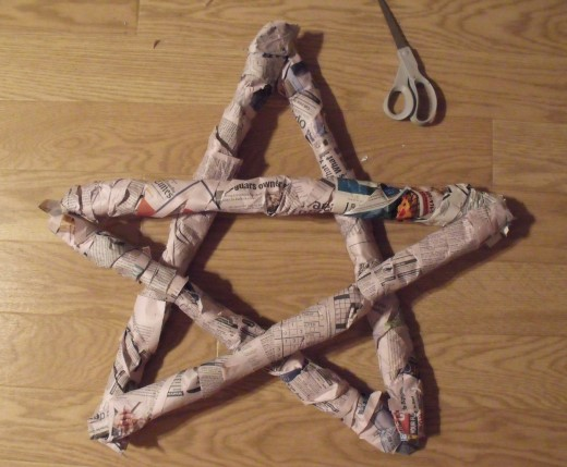 Wrap old newspapers around and tape down.