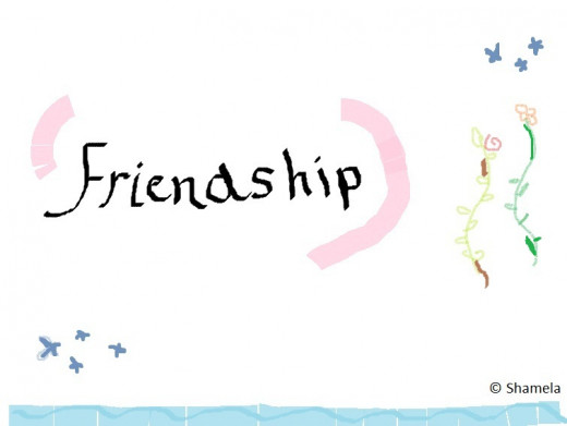 My drawing of friendship.