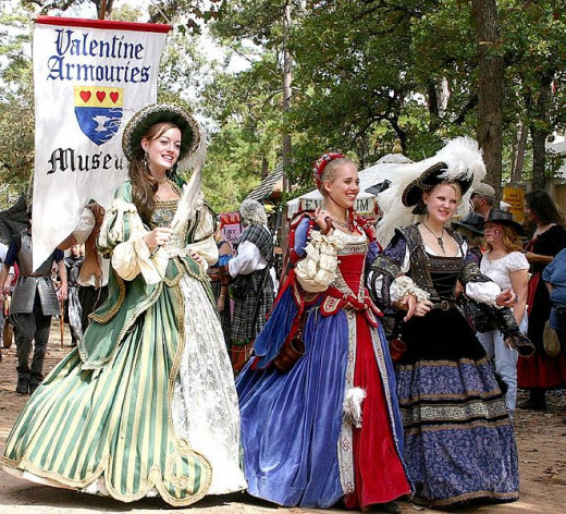 The ladies show their finery at the Texas Renaissance Festival