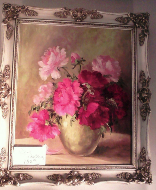 Beautiful antique oil painting on half off Sunday, $75.00!