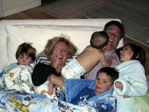 Photo of the Romney family before he began his run for the presidency