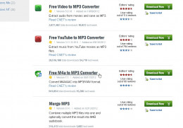 Fig 2.  Selecting Free M4a to MP3 Software