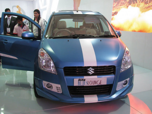 Get good discounts on Diwali and New Year on Maruti Ritz Blue color