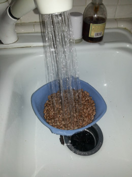 "Rinse and separate rocks from beans. Discard the ""rocks""."