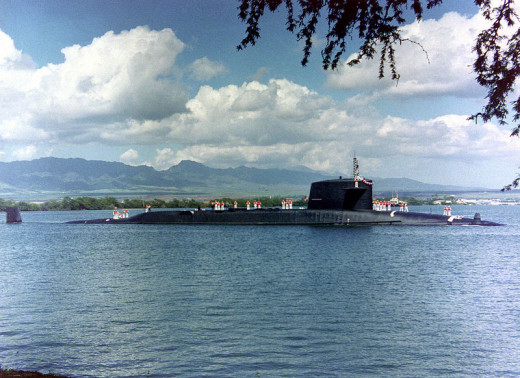 USS Sam Houston nuclear powered submarine