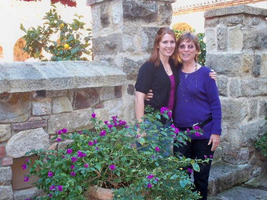 Daughter Kristen and me at Castello di Amorosa
