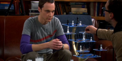 Sheldon playing 3D chess with Leonard