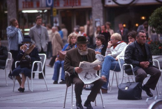 Man in marktplatz - Munich, German
