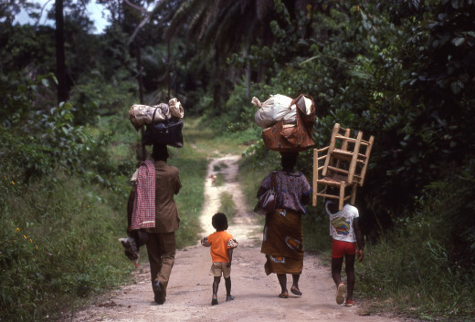 Family in Liberia, West Africa