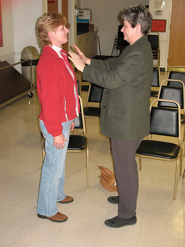 Reiki in action. This method of energy healing can also be used to ground an individual before spiritual communication.