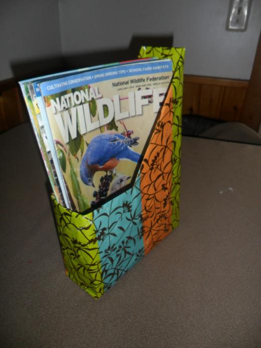 quick crafts: magazine holder