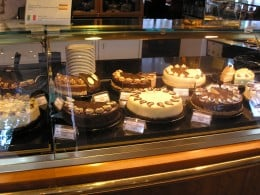 Coffee helps wash down cakes, cookies, and other pastries served as desserts.