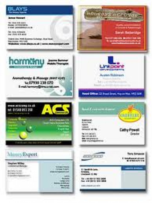 Business Cards are a great way to advertise your business. Give them to everyone you come in contact with.